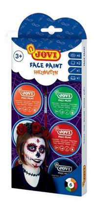 Obrázek Obličejové barvy JOVI - 6 x 8 ml / halloween