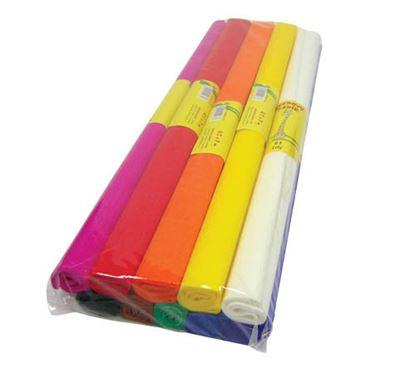Obrázek Krepový papír - role / 50 x 200 cm / oranžová