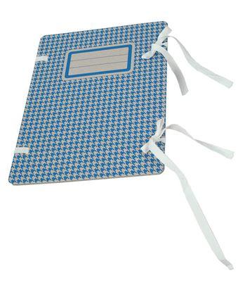 Obrázek Spisové desky s tkanicí Emba s potiskem - modrá