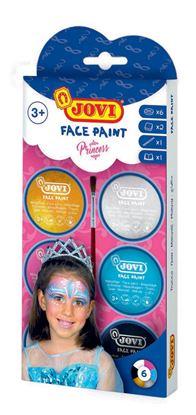 Obrázek Obličejové barvy JOVI - 6 x 8 ml / princezna