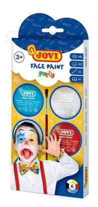 Obrázek Obličejové barvy JOVI - 6 x 8 ml / párty
