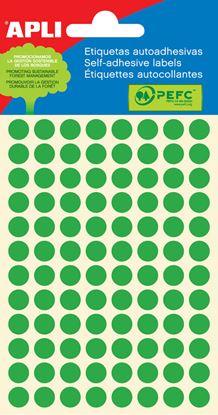 Obrázek Samolepicí kolečka APLI barevná - ? 8 mm / 288 etiket / zelená