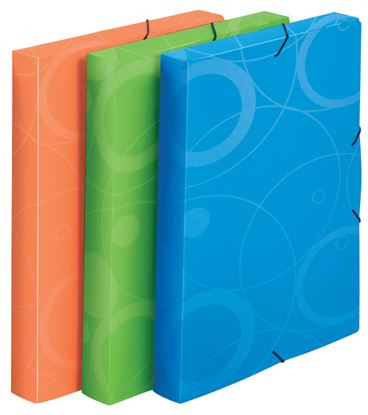 Obrázek Box na spisy A4 s gumou NeoColori - modrá