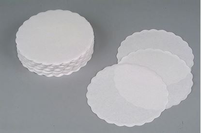 Obrázek Rozetky do podšálku 9 cm - bílé / jednovrstvé / 1000 ks