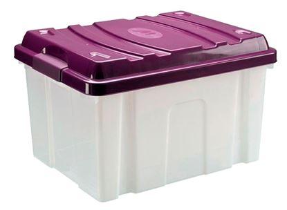 Obrázek Plastové boxy HOBBY bez koleček - 30 l / 47 x 37 x 28 cm