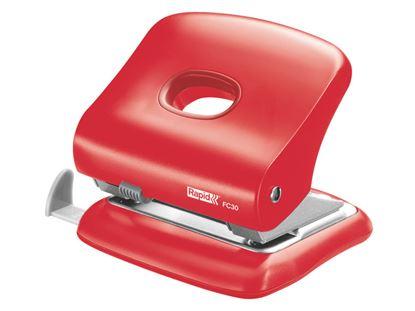 Obrázek Kancelářský děrovač Rapid Fashion FC30 - světle červená