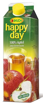Obrázek Džus Happy day Rauch 1 l - jablko