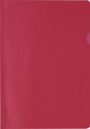 Obrázek Zakládací obal A4 barevný - tvar L / červená / 100 ks