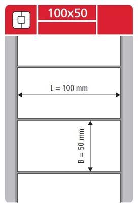 Obrázek Etikety pro termotransferové tiskárny - 100 x 50 mm / 2000 etiket na kotouči