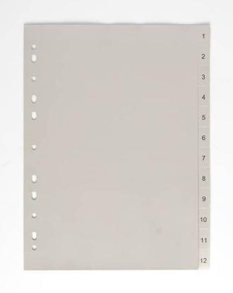 Obrázek Rozdružovač A4 plastový šedý - 1 - 12