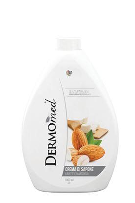 Obrázek Mýdla tekutá Dermomed - náhradní náplň / mandle a bambucké máslo/ 1 l