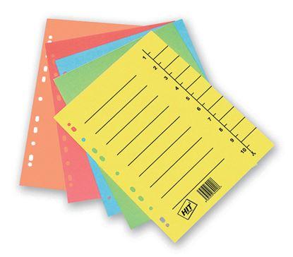 Obrázek Rozdružovač A4 odstřihávací - žlutá / 10 ks