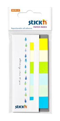 Obrázek Samolepicí záložky Stick´n by Hopax - 15 x 45 mm / 6 x 30 lístků / zelené odstíny