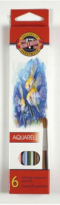 Obrázek Pastelky aquarelové Mondeluz - 6 barev