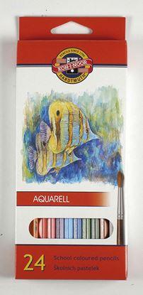 Obrázek Pastelky aquarelové Mondeluz - 24 barev
