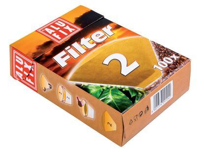 Obrázek Filtry na kávu Alufix - č. 2 / 100 ks