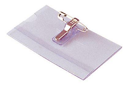 Obrázek Jmenovka s klipem - 6 x 9 cm / na šířku / s klipem i špendlíkem