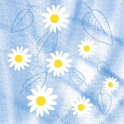 Obrázek Ubrousky papírové barevné Harmony -  33 x 33 cm / kamilka mix / 30 ks