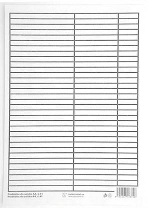 Obrázek Podložky do sešitů papírové + PVC - podložka A4 / linka - linka / papírová