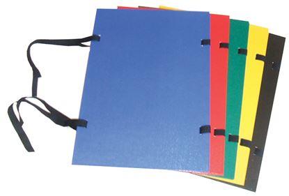 Obrázek Spisové desky s tkanicí PP Plus -  černá