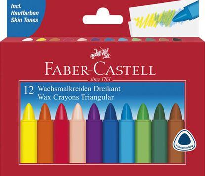 Obrázek Pastelky voskové trojboké - 12 barev