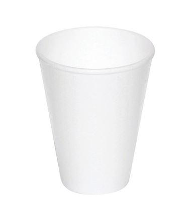 Obrázek Kelímky kávové plastové - bílé termo / 2 dcl / 50 ks