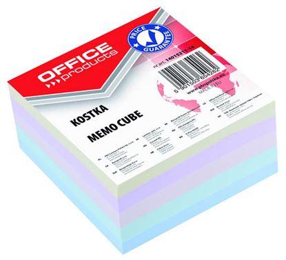 Obrázek Záznamní kostky barevné Office Products - 8,5 cm x 8,5 cm x 4 cm / lepená vazba