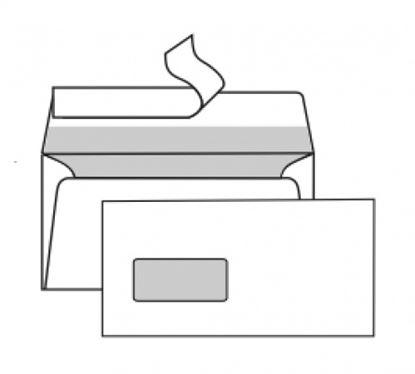 Obrázek Obálky DL samolepicí s krycí páskou - okénko vlevo / 1000 ks