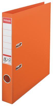 Obrázek Pořadač A4 pákový celoplastový - hřbet 5 cm / oranžová / 811440