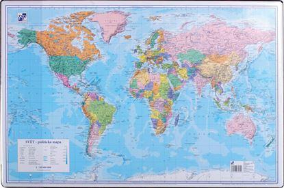 Obrázek Pracovní podložky dekorované - jednostranná / mapa svět