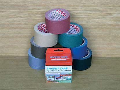 Obrázek Lepicí pásky kobercové - 50 mm x 10 m / bordó