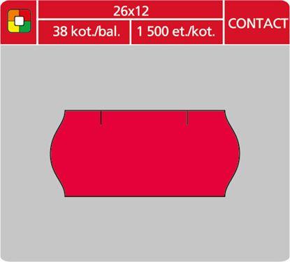 Obrázek Etikety do etiketovacích kleští - 26 x 12 mm Contact / červená