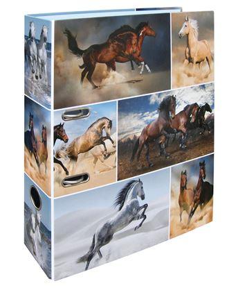 Obrázek Pořadač A4 pákový lamino -  hřbet 7 cm / koně
