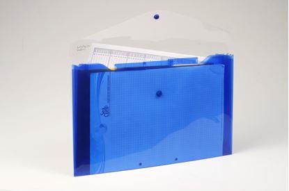 Obrázek Spisové desky s přihrádkami - modrá