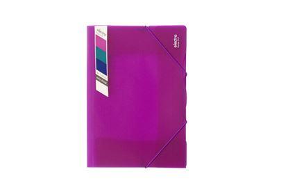 Obrázek Spisové desky A4 s gumou Electra -  růžová