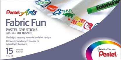 Obrázek Voskové pastelky na textil Pentel - 15 barev