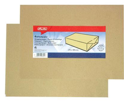 Obrázek Balicí papír hnědý - archy 0,7 m x 1 m / 4 ks
