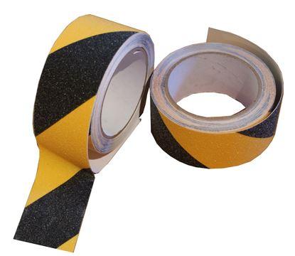 Obrázek Lepicí páska bezpečnostní - 50 mm x 5 m / žluto-černá
