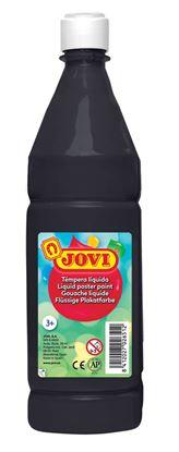 Obrázek Tekuté temperové barvy JOVI v lahvi - 1000 ml / černá