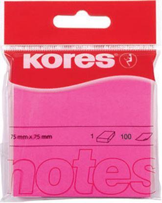 Obrázek Samolepicí bloček Kores neon - růžová
