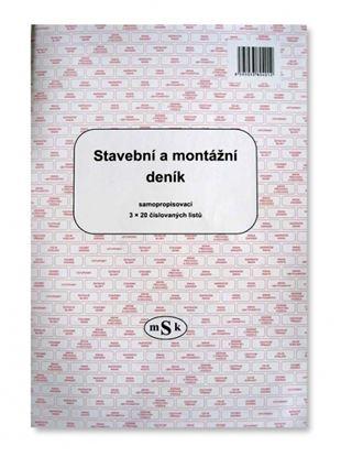 Obrázek Stavební a montážní deník MSK - A4 / 3 x 20 listů / NCR / 401