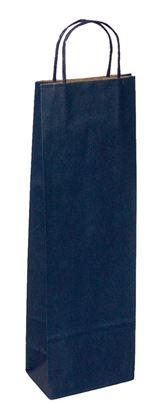 Obrázek Taška papírová na láhev - modrá