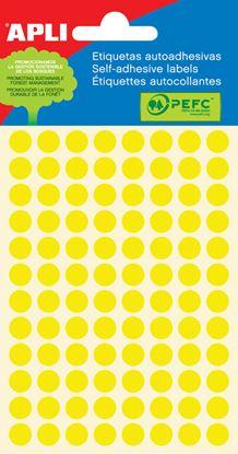 Obrázek Samolepicí kolečka APLI barevná - ? 8 mm / 288 etiket / žlutá