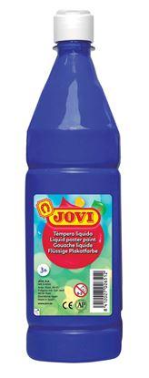 Obrázek Tekuté temperové barvy JOVI v lahvi -  1000 ml / tmavě modrá