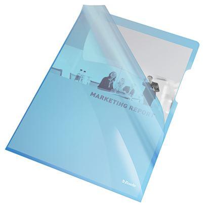 Obrázek Zakládací obal A4 silný barevný - tvar L / modrá 25 ks
