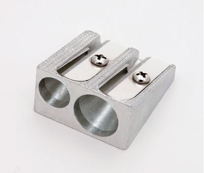 Obrázek Ořezávátko kovové - dvojité / chrom