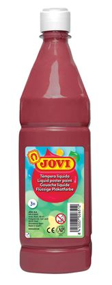 Obrázek Tekuté temperové barvy JOVI v lahvi -  1000 ml / hnědá