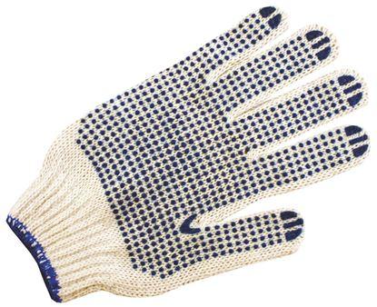 Obrázek Ochranné rukavice bavlněné -  s gumovými terčíky