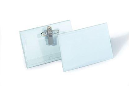 Obrázek Jmenovka s kombinovaným klipem Durable - 54 x 90 mm / s klipem