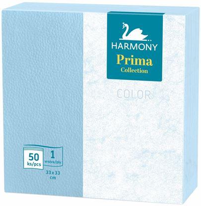 Obrázek Ubrousky papírové barevné Harmony Color - 33 cm x 33 cm / modrá / 50 ks